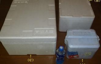 メダカ発送用の発泡スチロール箱